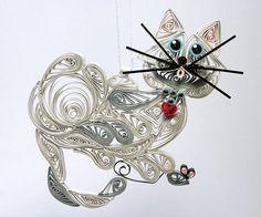filigree kitty ornament
