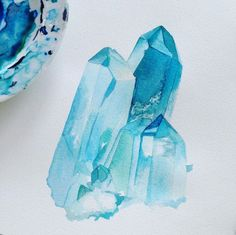 mineraliety:  I love how this Quartz watercolor by @moanart is both defined and airy. How does she manage that? ///////// www.instagram.com/moanart   www.mineraliety.com