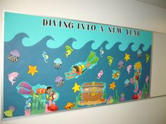 Back to School Welcome Bulletin Board use the water idea with nice to sea you