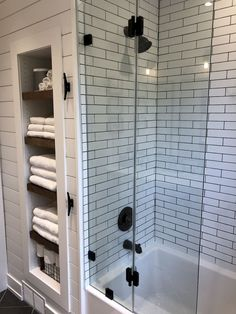 Bathroom Design Trends 2020 for Best ROI - Modern Farmhouse Bathroom with wood vanity, shiplap walls, oil rubbed bronze accents, DIY wood shel - Bathroom Renos, Bathroom Renovations, Home Remodeling, House Renovations, Bathroom Interior, Decorating Bathrooms, Bad Inspiration, Bathroom Inspiration, Casa Magnolia