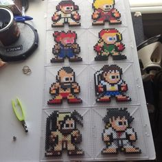 Street Fighter characters perler beads by jyphlosion