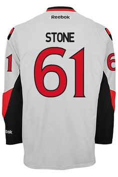 Ottawa Senators Mark STONE #61 Official Away Reebok Premier Replica NHL Hockey Jersey (HAND SEWN CUSTOMIZATION)