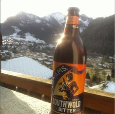 hmae2391from Instagram Got to love having proper bitter in the mountains! @adnams #chatel #france #mountains #alps #beer #bitter #suffolk