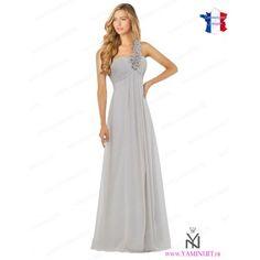 robe de demoiselle d'honneur grise