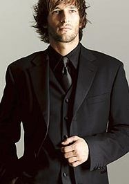 Grey Suit and Black Shirt and Tie... | You Are Mine, Irrevocably ...