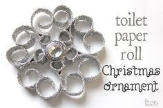 christmas ornaments made from recycled toilet paper rolls, bathroom ideas, christmas decorations, seasonal holiday decor