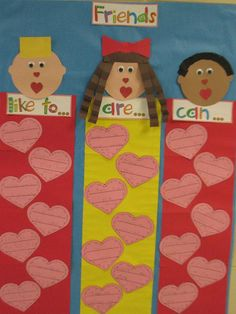Back To School and Valentine's Day Friendship Unit and Kindergarten Lesson Plan