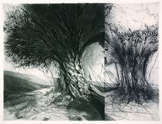 Jake Muirhead, etching