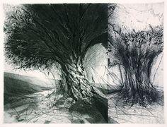 Jake Muirhead, etching