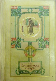 "Example of a fine binding of ""A Christmas Carol""."