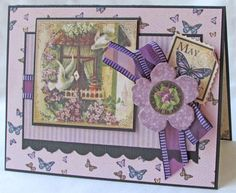 """Try this May Place in Time """"Happy Mother's Day"""" card with a printable project sheet #graphic45 #projectsheets #tutorials"""