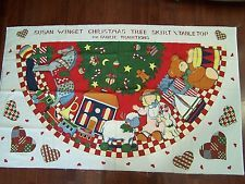Susan Winget Christmas Tree Skirt/TableTop For Fabric Traditions. Fabric Panel