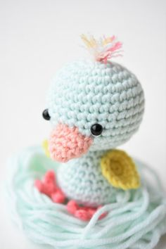 Free amigurumi pattern - little friendly duck @ lilleliis, Thanks so xox ☆ ★ https://uk.pinterest.com/peacefuldoves/
