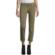 PAIGE Brigitte Slim Cropped Boyfriend Jeans ($209) ❤ liked on Polyvore featuring jeans, apparel & accessories, paige denim jeans, slim fit jeans, paige denim, 5 pocket jeans and slim jeans