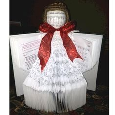 How To Make An Angel From A Hymnal Craft