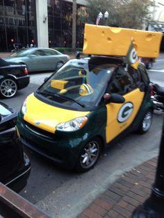 Cheesehead Smart Car
