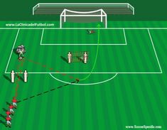 When you participate in soccer training, you will find that you are introduced to many different types of methods of play. One of the most important aspects of your soccer training regime is learning the basics of kicking the soccer b Soccer Warm Up Drills, Soccer Passing Drills, Soccer Training Drills, Soccer Practice Drills, Football Coaching Drills, Football Workouts, Football Techniques, Soccer Shoot, Youth Soccer
