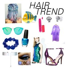 """""""Mermaid in the Club"""" by sarahluvv ❤ liked on Polyvore featuring Danielle Nicole, Floats, Disney, John Lewis, Accessorize, OPI, MAC Cosmetics, Signature 8, Steve Madden and hairtrend"""