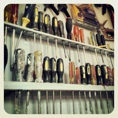 garage - Garage Storage / Storage & Home Organization: Tools & Home Improvement Garage Shed, Garage Tools, Man Cave Garage, Garage House, Garage Workshop, Dream Garage, Workshop Ideas, Garage Ideas, Shed Organization