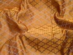 Mustard Yellow Wedding Dress Brocade By The Yard Indian Silk | Etsy
