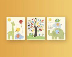 Nursery Decor For Baby Room  Nursery Wall Art by DesignByMaya