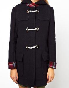 Image 3 ofASOS Bonded Check Duffle Coat