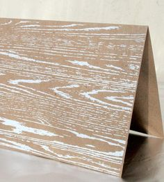 Wood Grain Greeting Cards - Pack of 6