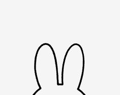 Miffy by Dick Bruna Hase Tattoos, Peek A Boo, Miffy, Simple Doodles, Flocking, Arm Tattoo, Cute Art, Silhouette Cameo, Art Drawings