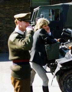 Diana and Captain James Hewitt. (not many pics of them together) the man rumored she had an affair with after many years of putting up with Camille