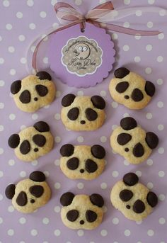 Bakery - Choco-Panda Cookies - a unique product by Kavadolce on DaWanda - Backen - Animals Cute Cookies, Cupcake Cookies, Cupcakes, Christmas Baking, Christmas Cookies, Panda Party, Food Humor, Cute Food, Creative Food
