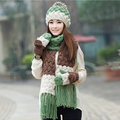 177 Best womens hat scarf and glove set images  ea60edd897b