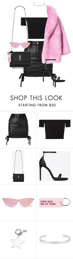 """""""• BLACK & PINK •"""" by marcia-micaela ❤ liked on Polyvore featuring Versus, Michael Kors, Yves Saint Laurent, Le Specs, Various Projects, STELLA McCARTNEY and Jennifer Fisher"""