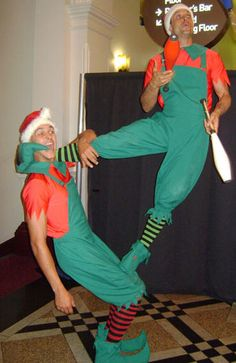 Juggling comdey elf entertainers Alan Casey Entertainment Agency