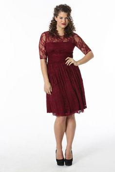 Luna Lace Dress by Madison Plus Select on CurvyMarket.com Plus Size