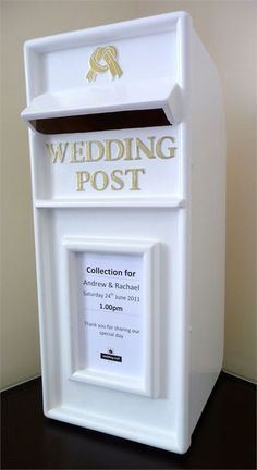 Your guests won't be able to stop admiring this classic and elegant white post box from Ambience Venue Styling