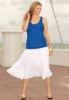 I like this skirt/tank combo