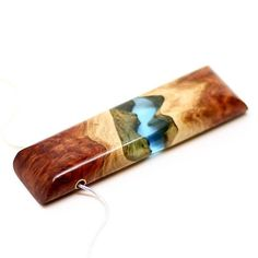 Red Mallee burl and resin pendant. . We love this wood it is just fantastic to…