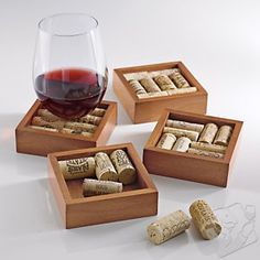 There are kits for cork coasters, cork trivets, all kinds of fun, and I have lots of corks :)