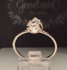 Excited to share the latest addition to my #etsy shop: Raw Herkimer Diamond Ring/Healing Cystal Ring/Gorgeous Rough Uncut Herkimer Diamond Silver Ring./Raw Crystal Ring/Free US Shipping.