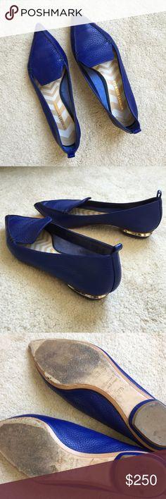 SOLD HP Nicholas Kirkwood Beya flats. Nicholas Kirkwood's signature Beya flats in electric blue. Nicholas Kirkwood Shoes Flats & Loafers