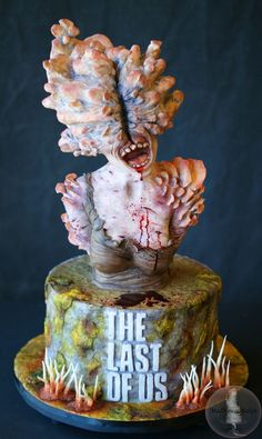 The Last of Us Clicker Cake, by MadHouse Bakes Last Of Us, Video Game Cakes, Us Foods, Doll Repaint, Cake Creations, How To Make Cake, Food Videos, Cake Decorating, Bakery