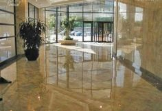 Commercial Lobby - Polished Marble Floor Scope of work: sand, polish and protect floor with a penetrating sealer. Marble Floor, Divider, Commercial, Polish, Flooring, Gallery, Room, Furniture, Home Decor