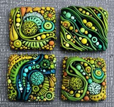 texture, sculpey, jewelry, rhythm, repetition, pattern, Polymer Clay Tutorial for Inchies by CobaltMoon