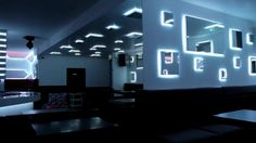 Parts of the walls with glass and led strip - dimers and DMX control Nightclub Design, Led Strip, Night Club, Walls, Wands