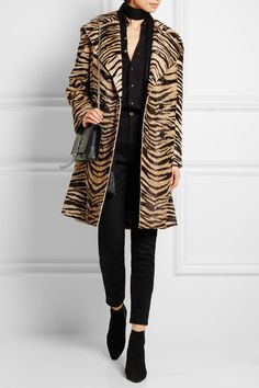 Camel and black coat