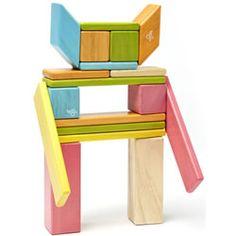 Tegu 24 Piece Magnetic Wooden Building Block Set