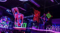 XXXL Schwarzlicht Party - Foto: Prime Bielefeld #blacklight #schwarzlicht #deco #spandex #stringart #yarnart