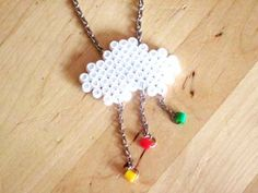 DIY Cloud necklace hama beads (tutorial in french)