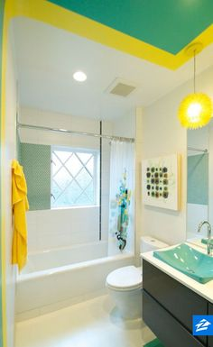 When your bathroom is this cheerful, you will be, too!