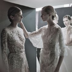 Backstage at Elie Saab Haute Couture Spring/Summer 2013